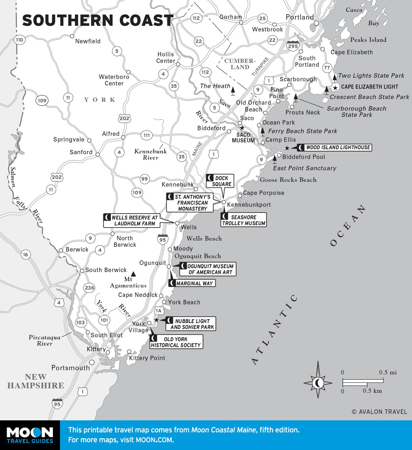Great Map Of The Beaches Of Southern Maine By Static Moon Com Beaches Of Southern Maine