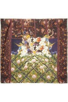 Mary Katrantzou|Jewel Tree modal and cashmere-blend scarf|NET-A-PORTER.COM - StyleSays