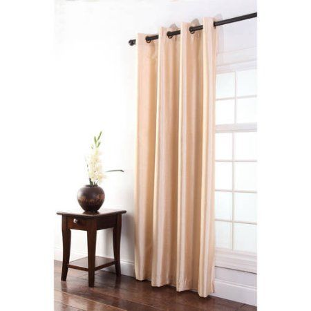 Tribeca Faux Silk Grommet Panel, Brown
