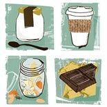 Kavel RaffertyGlamour Snacks, food, fruit, healthy, snacks, nuts, tea, yogurt, chocolate, kitchen, bread, drinks
