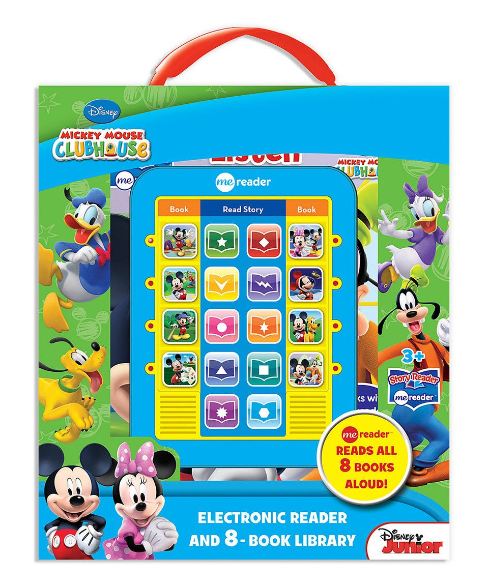 Mickey Mouse Electronic Reader & Eight-Book Set by Mickey Mouse #zulily #zulilyfinds