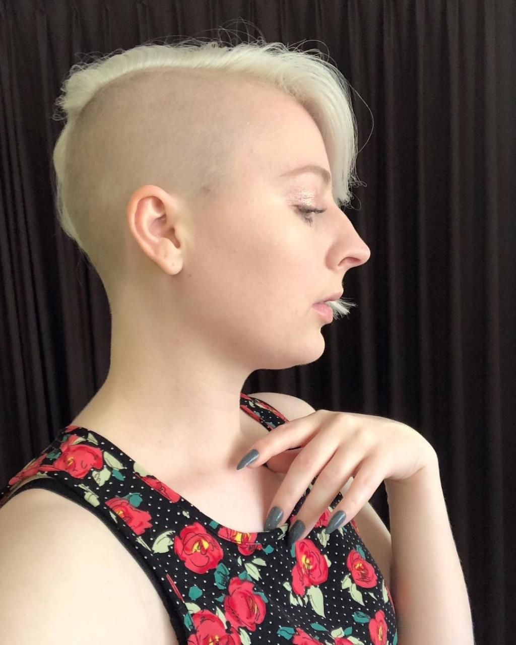 Asymmetrical Haircut Headshave And Bald Fetish Blog Half Shaved Head Shaved Sides