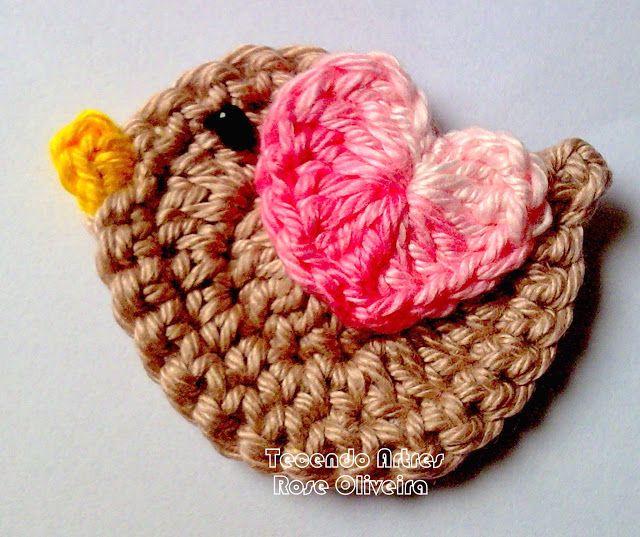 Tutorial de pajarito en crochet. Muy bien explicado, paso a paso