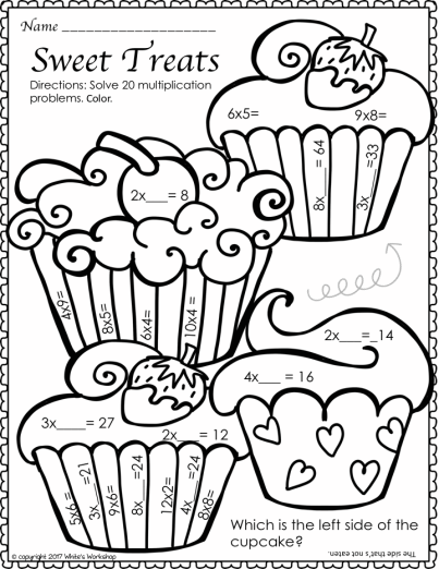 Multiplication Facts Color By Number Perfect For Valentine S Day Multiplication Math Fact Fluency February Math