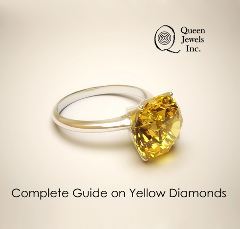 Diamonds rings in yellow are a radiant alternative to the white traditional wedding diamond rings.  Read Here a Complete Guide on Yellow Diamonds - http://goo.gl/OM0sQz
