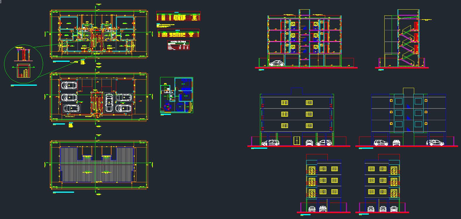 Projeto De Edif Cio Comercial Elaborado No Autocad Arhitectura