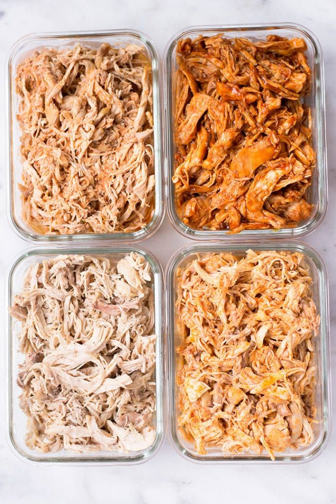 Slow Cooker Shredded Chicken Meal Prep #weeklymealprep