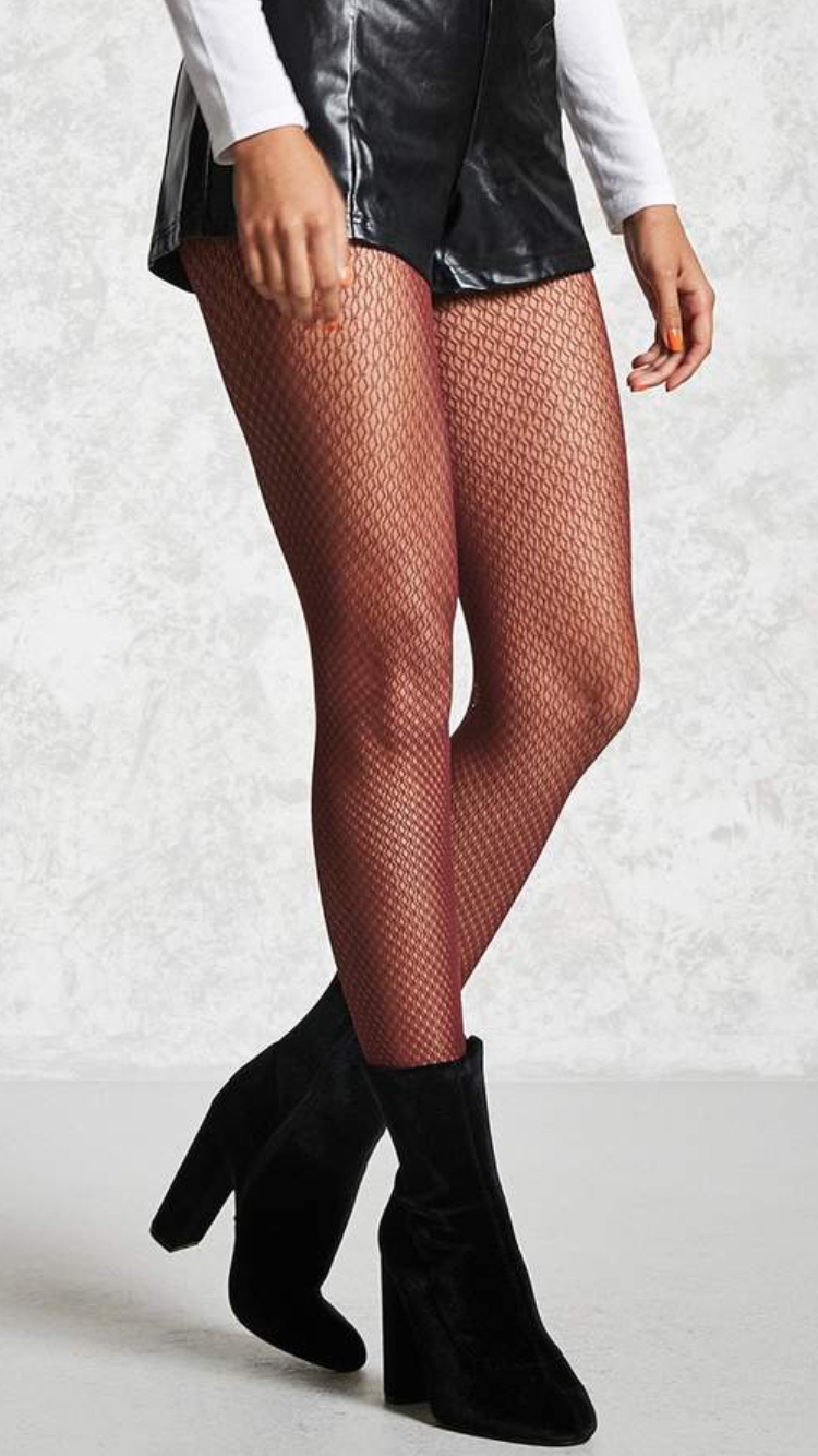 86294c22fd5c8 Forever 21 Sheer Fishnet Tights - Forever 21 Sheer Fishnet Tights A pair of sheer  fishnet tights featuring a micro pattern and an elasticized waist.