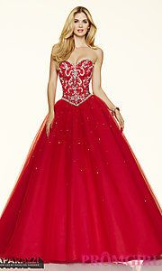 021d4d2c606 Buy Strapless Sweetheart Mori Lee Ball Gown Style Prom Dress at PromGirl  Бальные Платья