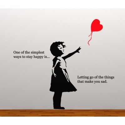 Cute Saying W Girl Red Balloon Banksy Street Quotes Banksy