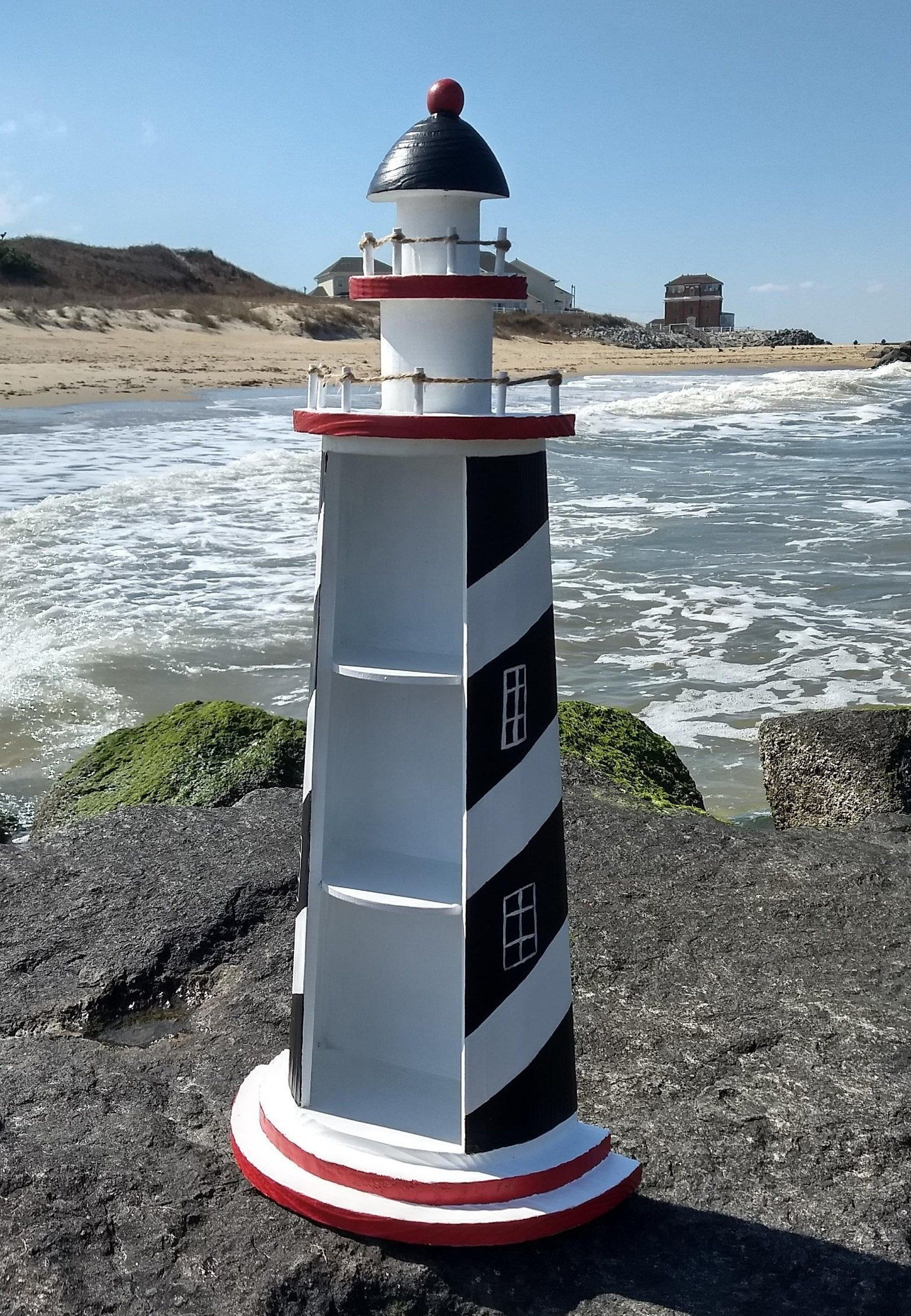 Excited To Share The Latest Addition To My Etsy Shop Lighthouse Sea Beach Decoration Https Etsy Me 2l6qw Wood Lighthouse Lighthouse Crafts Lighthouse Decor