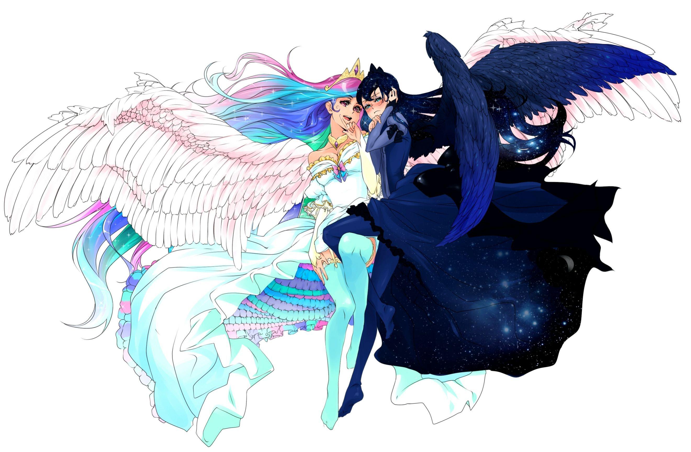 Luna and Celestia human | My little pony characters ...