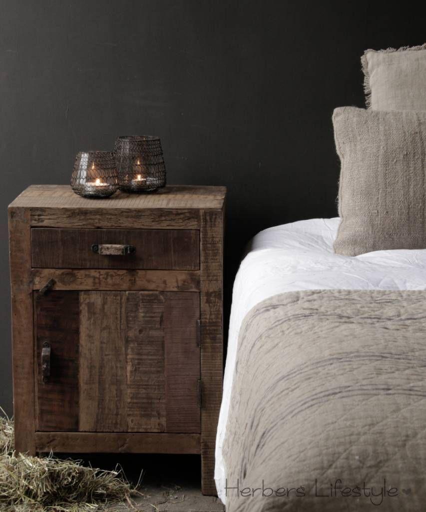 Onwijs Oud houten kastje ,nachtkastje,landelijk kastje, hoffz kastje XO-87