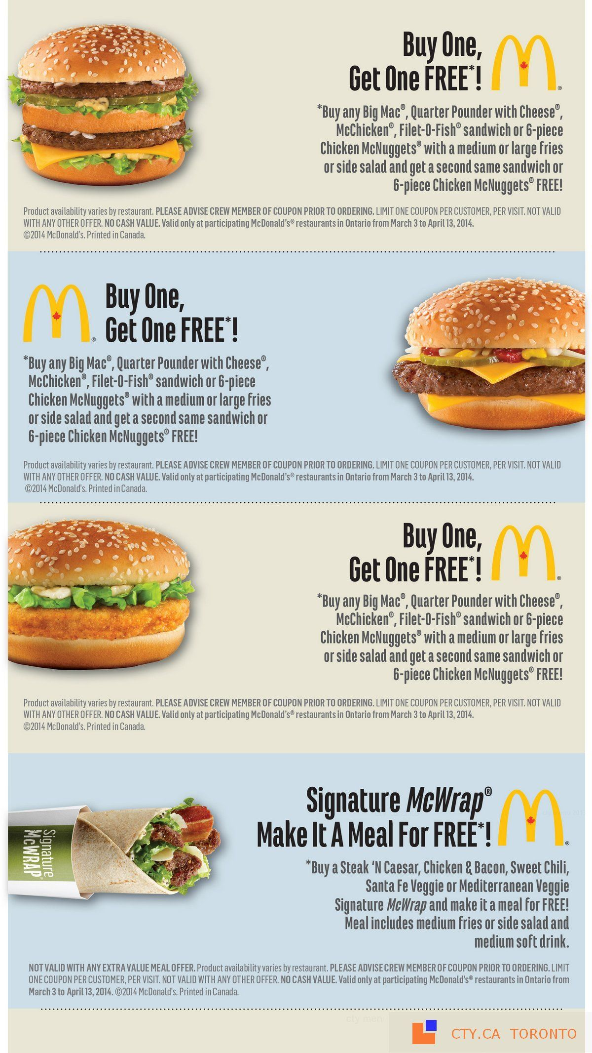 mcdonald s coupons march 3 april 13 2014 restaurant