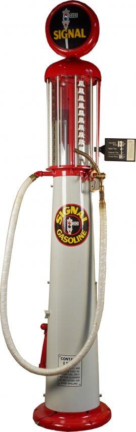 Wayne 615 Signal Gasoline 10 Gallon Visible Gas Pump