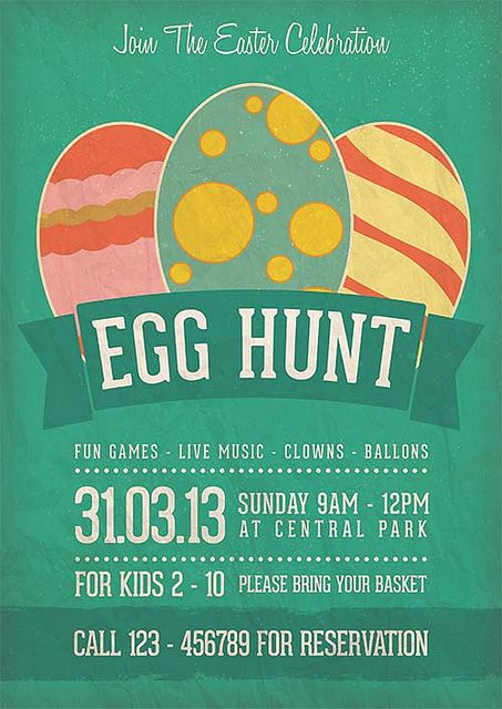 Egg Hunt Easter Celebration Flyer Template Flickr Photo Sharing