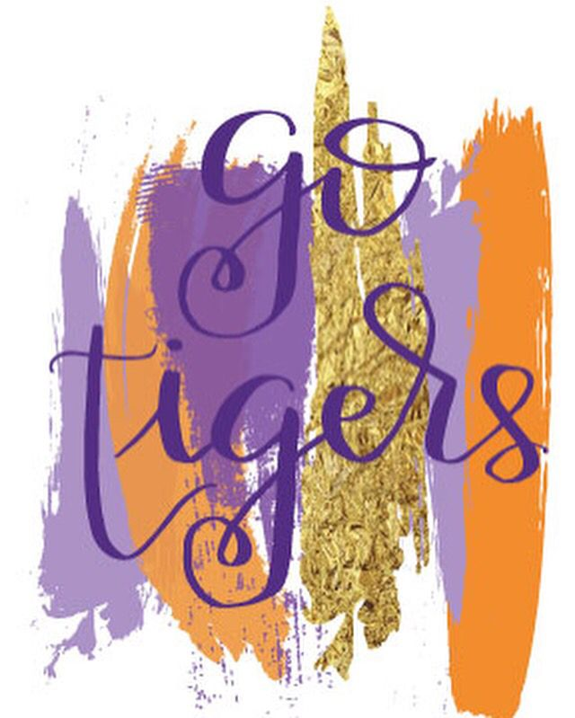 Go Tigers from LnCalligraphyDesigns Etsy.  Clemson Tigers Print