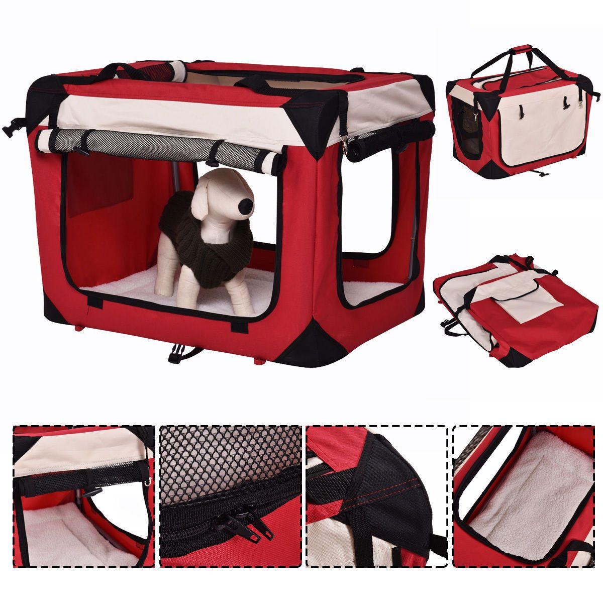 Details About New 4 Sizes Pet Dog Carrier Portable House Soft