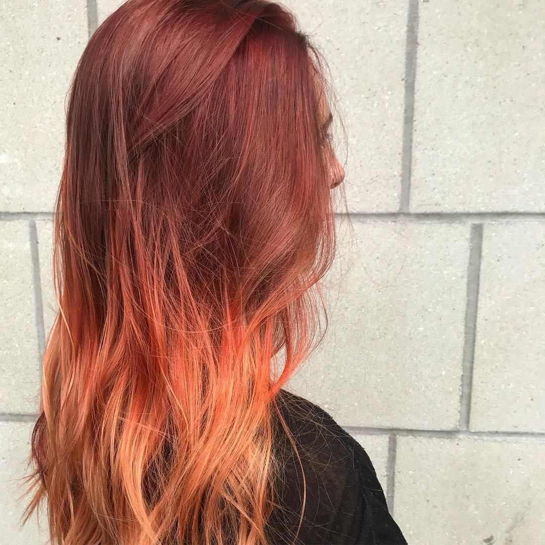 Flame Red Sunset Hair Color By Aveda Artist Jordyn Shipley Ma