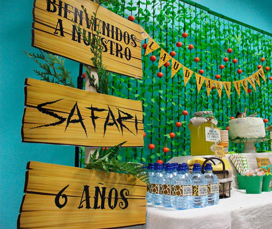 Cumplea os infantil de la jungla organizacion eventos - Tematicas para fiestas de cumpleanos ...