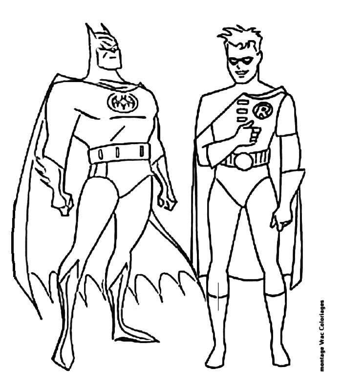 Ausmalbilder Batman Robin Malvorlagen Ausmalen Ausmalbilder