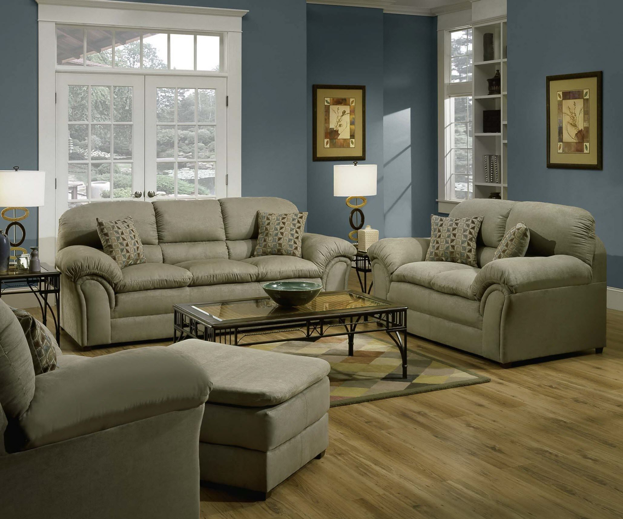 Simmons Velocity Sofa/Loveseat Set Has Big Comfortable