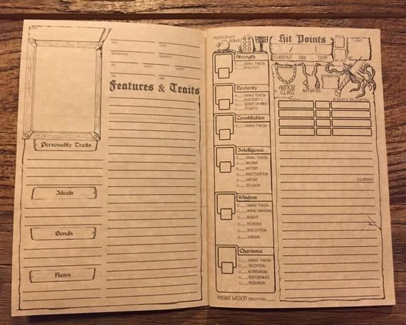 Keep track of your D&D character with this 5e printable