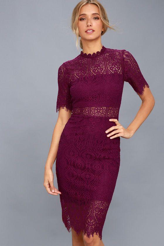 Remarkable Burgundy Lace Dress Clothing Lace Burgundy