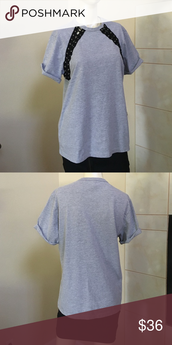 Emma and Sam lace-up tee New with tags LF Tops