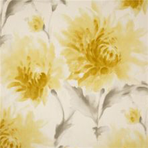 Magnolia garden fabric a pure cotton curtain fabric with a striking this is a yellow gray and white watercolor floral cotton drapery fabric by richloom platinum mightylinksfo