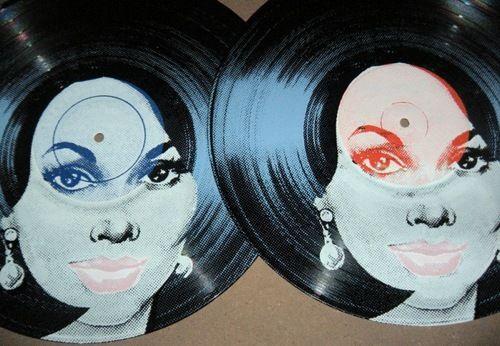 screen printed on vinyl records