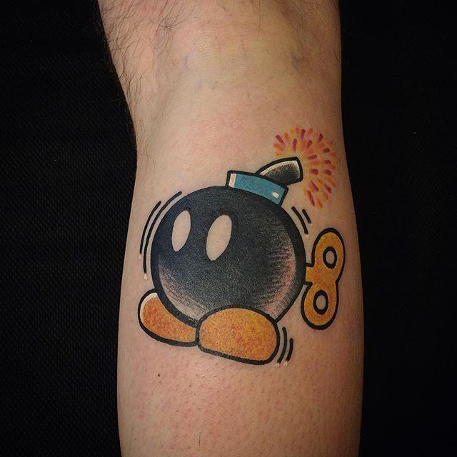 vinz flag super mario bomb tats pinterest tatuajes and