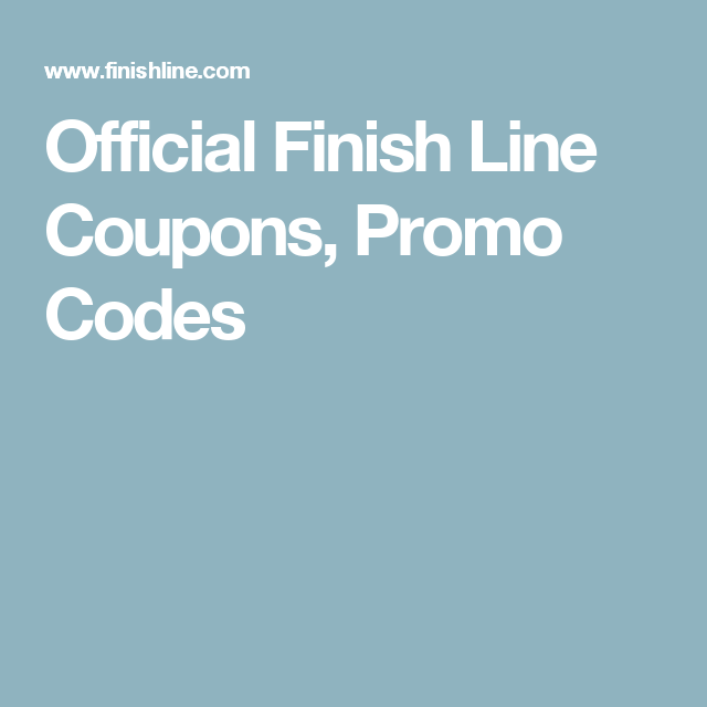 photograph relating to Finish Line Coupons Printable referred to as Formal Total Line Discount coupons, Promo Codes Formal On-line