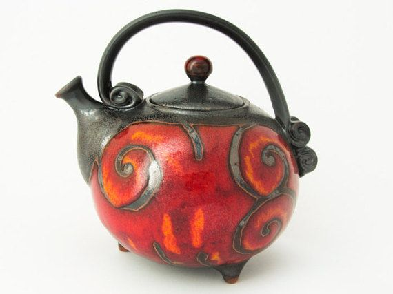 Handmade Ceramic Teapot 37oz Ceramics And Pottery Ball Shaped Teapot Pottery Teapot Functional Pottery Tea Set C Ceramic Teapots Tea Pots Pottery Teapots