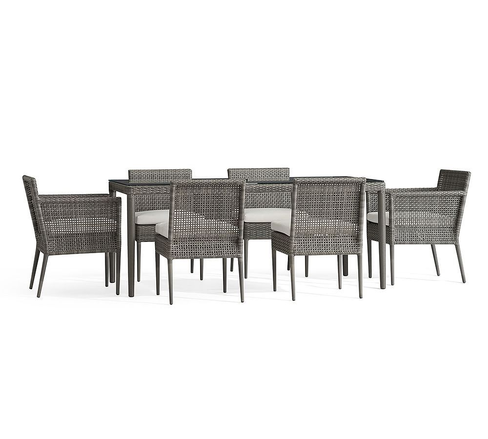 Outdoor Furniture Dining Set Sale Cammeray Dining Table 2 Arm 4 Side Chairs In 2019 Products