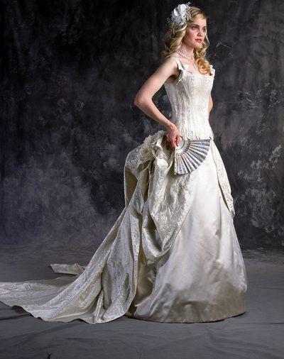 Marie antoinette corset wedding dress wedding for Marie antoinette wedding dress