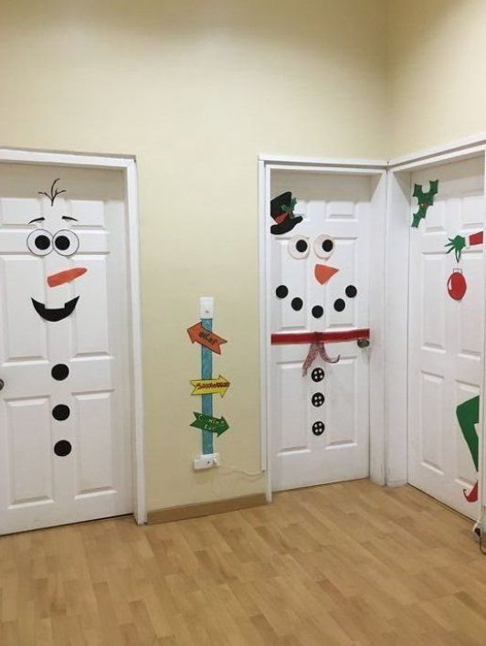 50 Christmas Door Decorations for Work to help you Ace the Door Decorating Contest - Hike n Dip #
