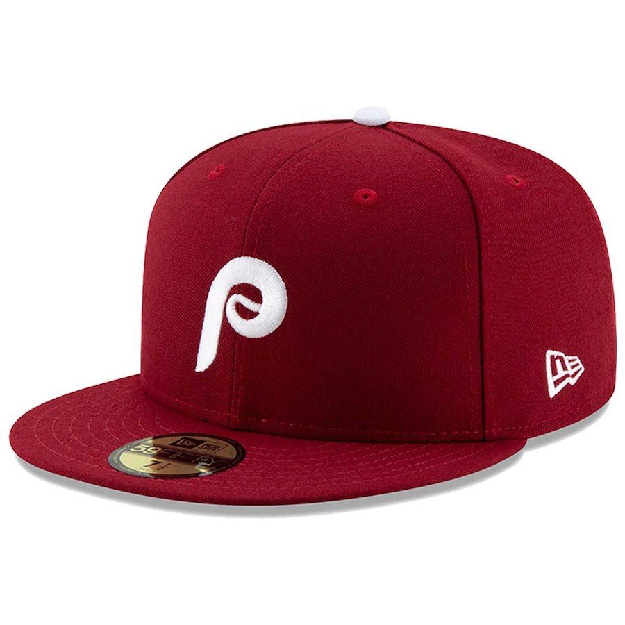 5e4b11656e2 Men s Philadelphia Phillies New Era Maroon Alternate Authentic Collection  On-Field 59FIFTY Fitted Hat