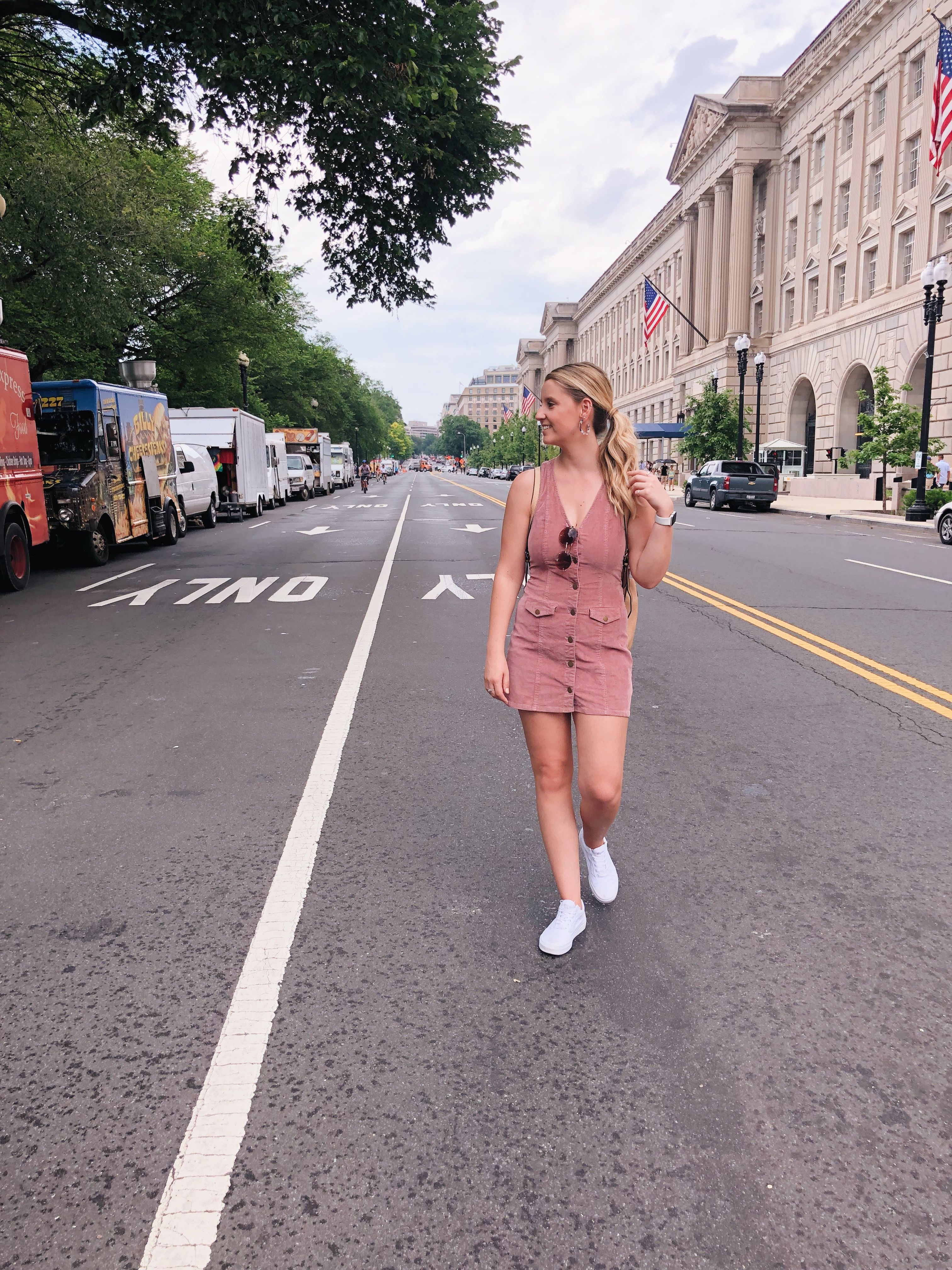 Pink Corduroy Dress White Vans Outfit White Vans Outfit Corduroy Dress Vans Outfit [ 4032 x 3024 Pixel ]
