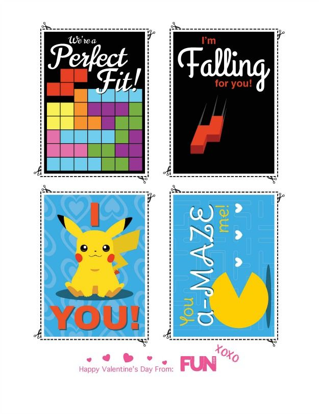 Video Game Heart Containers: Printable Video Game Valentine\'s Day ...
