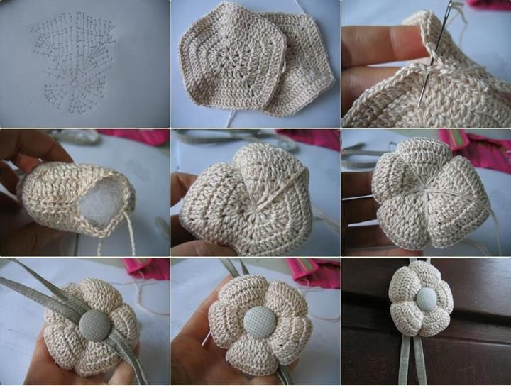 Amigurumi Flower Tutorial : Amigurumi flower chart ❥ u hf crochet