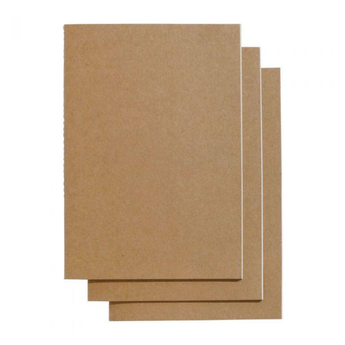 Kraft A5 Slim Plain Exercise Books - Pack Of 3