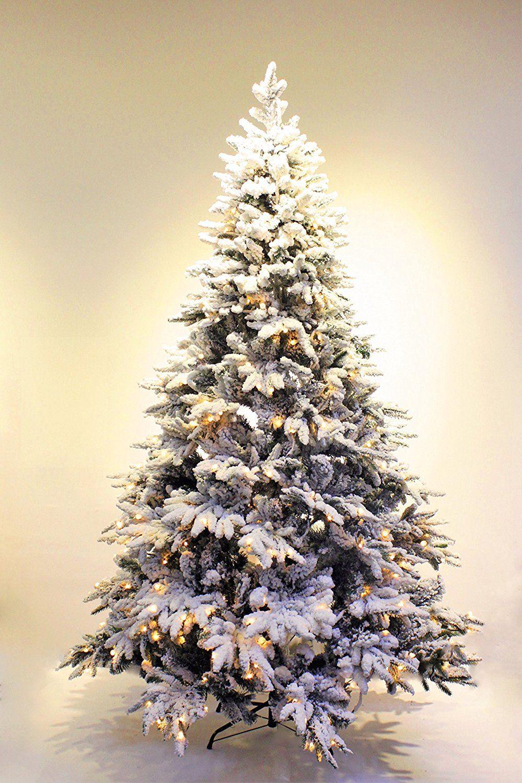 6ft Pre Lit Real Feel Flocked Alpine Spruce White Artificial Christm Flocked Christmas Trees Flocked Artificial Christmas Trees White Artificial Christmas Tree