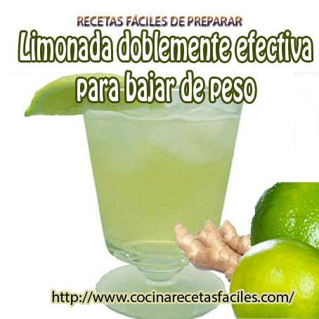 Como bajar de peso tomando limonada
