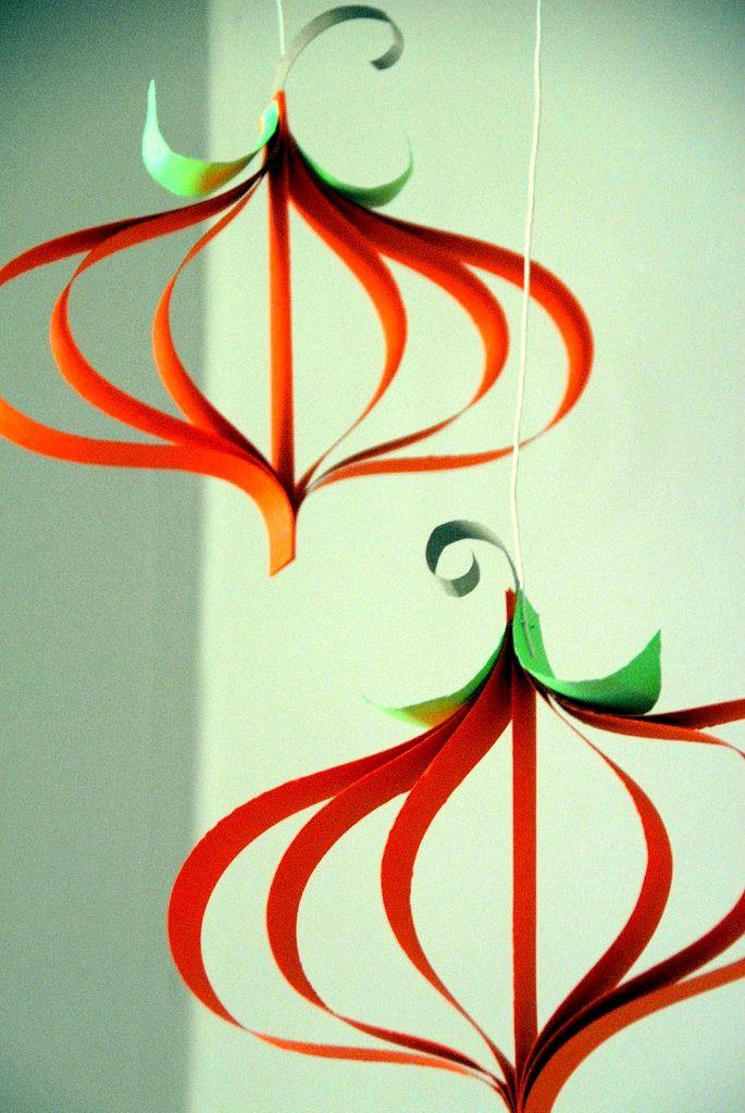 Paper Pumpkin Craft Tutorial Halloween Ideas Pinterest Harvest