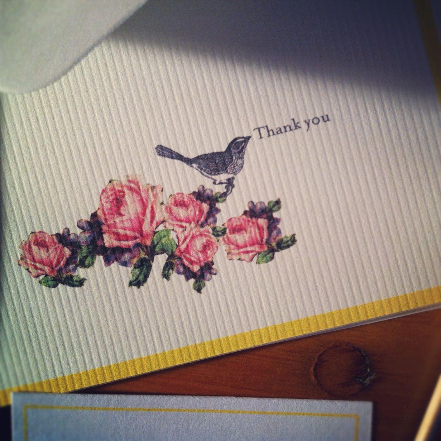 Thank you card design by lovelovemedo