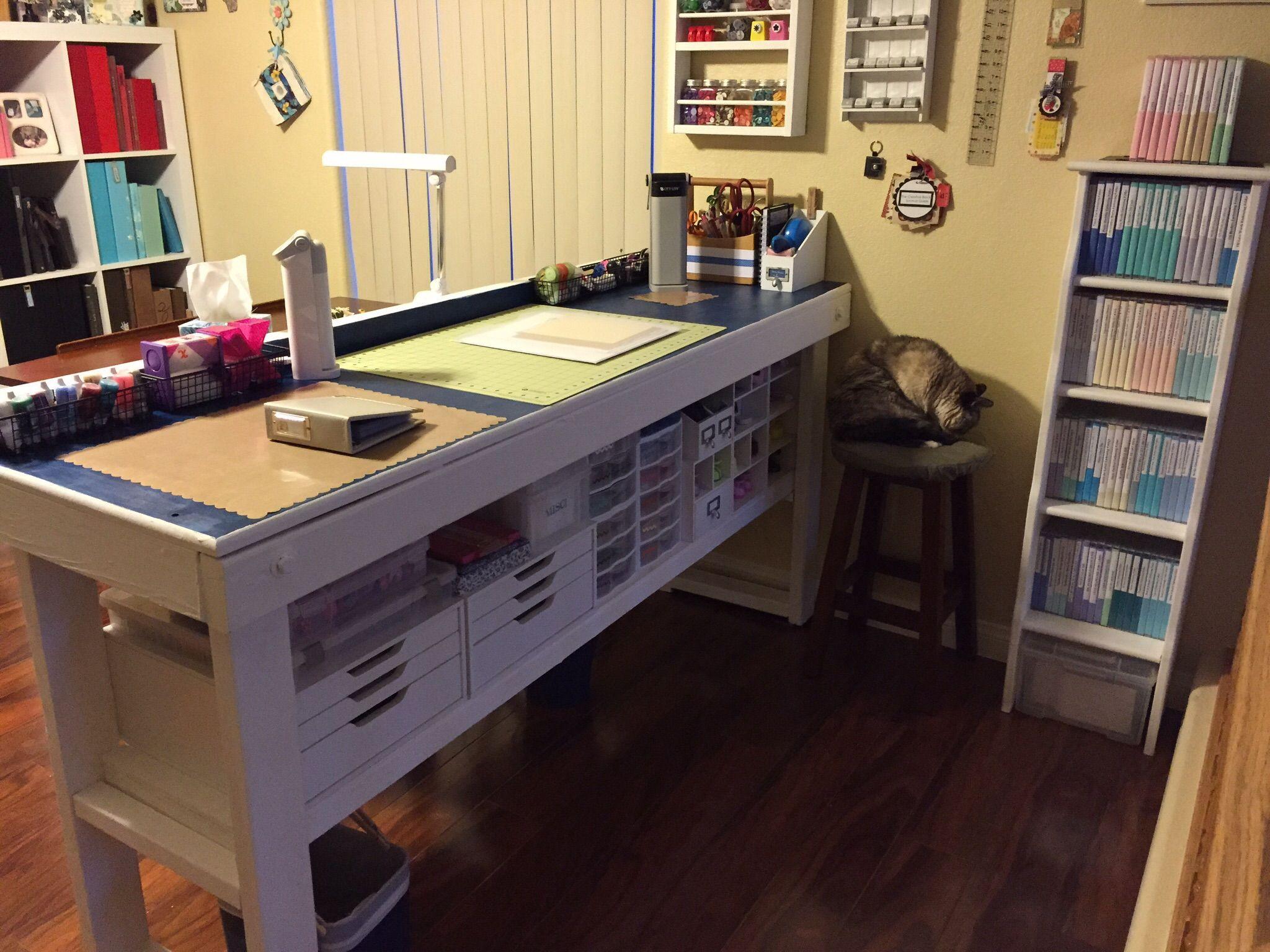 Under Table Storage In 2020 Table Storage Craft Room Design Storage