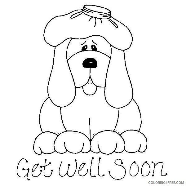 Get Well Soon Coloring Pages Puppy Coloring4free Com Jpg 600 600