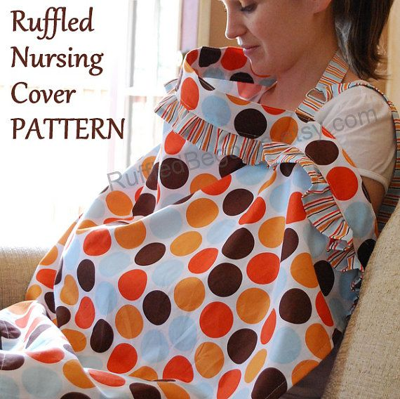 Love this ruffled nursing cover! I used this pattern and loved it - nursing cover