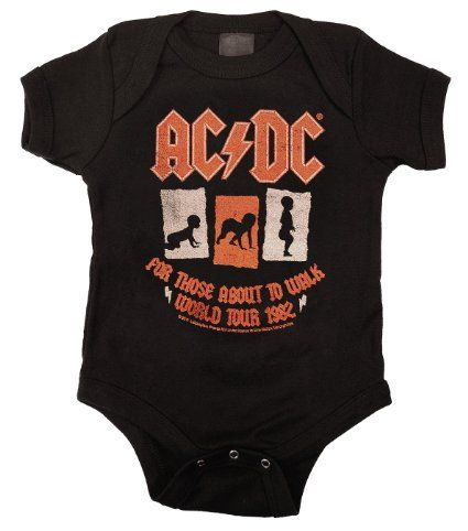 AC//DC Classic Logo Infant Baby Black Zip Up Sweatshirt New Official Merchandise